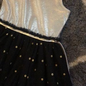 Justice Dresses - Justice size 8 gold and black holiday dress